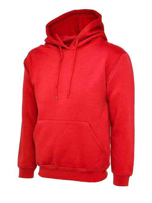 Uneek Red Classic Hooded Sweatshirt