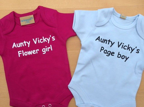 Personalised Flower Girl / Page Boy baby grow