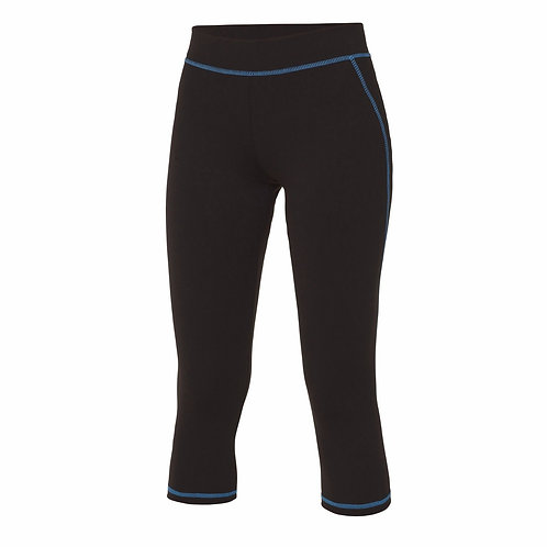 Ladies AWDis Just Cool running fitness sport dance cropped capri leggings