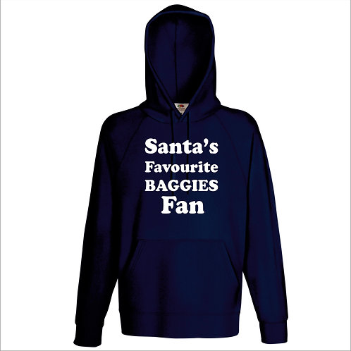 Santa's Favourite Baggies Fan / name your team hoodie