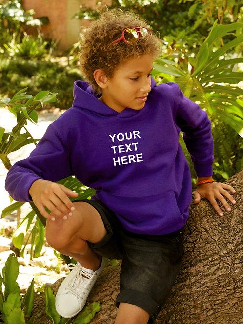 Children's hoodie choose plain or personalised with print