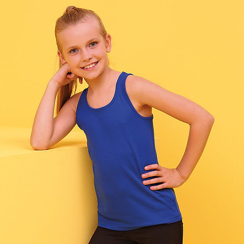 Kids cool vest, AWDIS, sports, PE, dance available in 9 colours