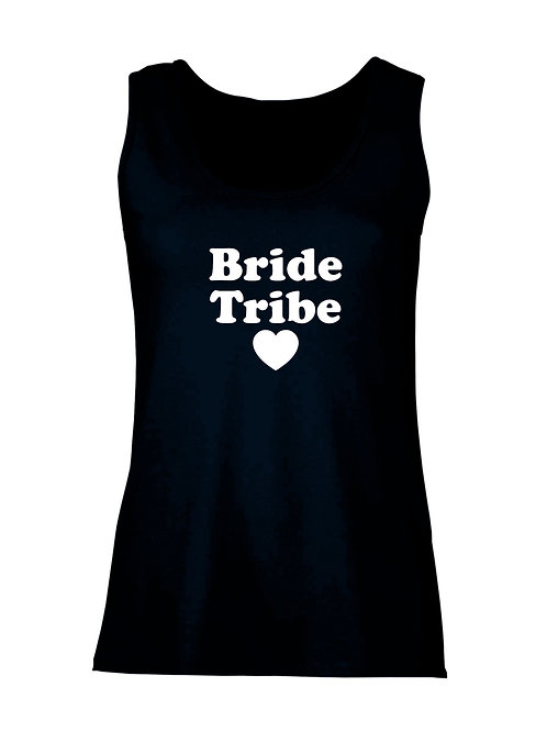 Lady Fit Vest Bride Tribe and name across the back