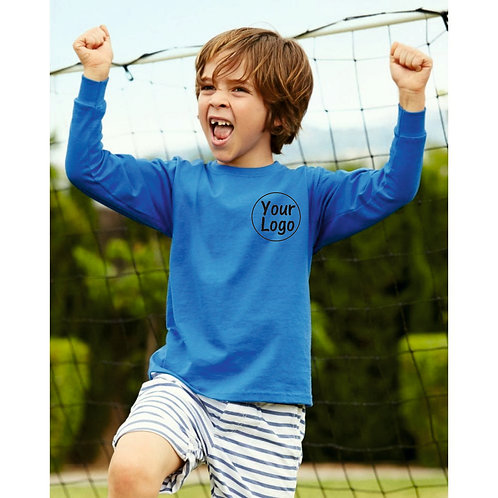Children's Long sleeve t shirt - plain or create your print