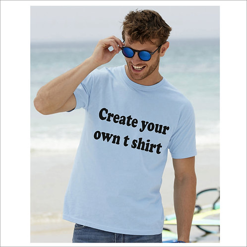 Adult unisex t shirt with print -perfect for work / fitness / events