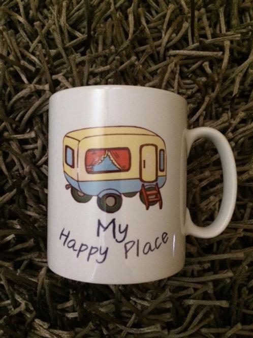 My Happy place caravan mug