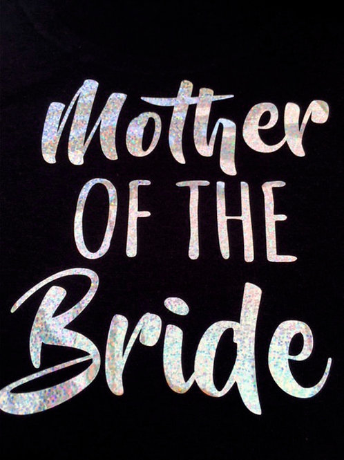 Hen party black t shirt with sparkle print title