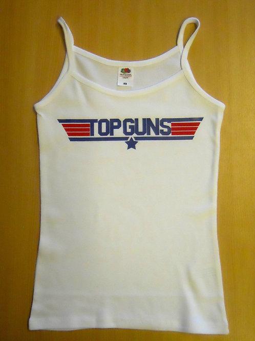 Do you have Top Guns ? boobs ? A ladies Strap white top a funny take on Top Gun