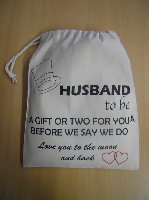 Wedding Day Keepsake Gift Bag for a Husband to Be love you to the moon & back
