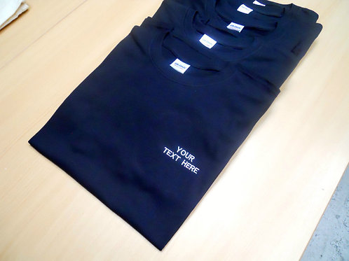 Personalised 5 x Gildan heavy cotton t shirts workwear embroidered package
