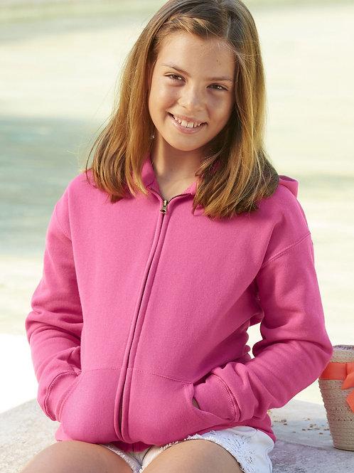 Plain or Printed Personalised Kids Children's hooded hoodie zipped sweat jacket