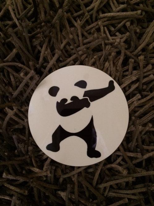 Panda doing the dab funny coaster
