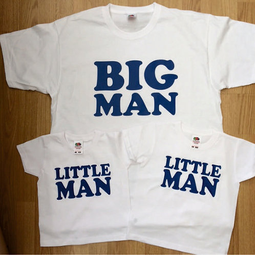 Adult & Children's Big Man and / or Little Man matching t shirt