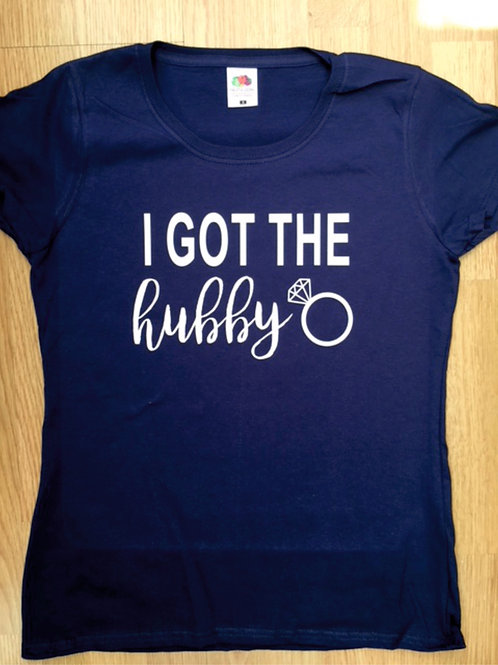 I got the hubby / we got the bubbly t shirt
