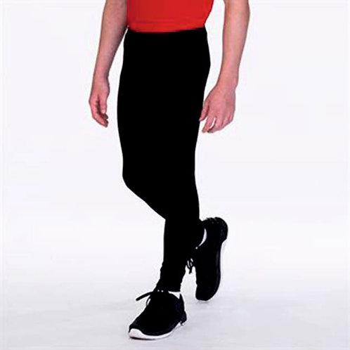 Girls full length black leggings fitness dance sport gymnastics