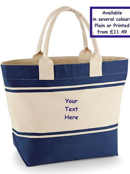 Quadra Canvas deck beach summer bag with long handles plain or printed gorgeous