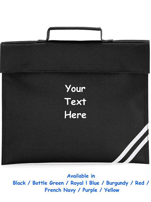 Plain or printed Quadra School Book Carry Bag / Satchel with Visibility Stripes