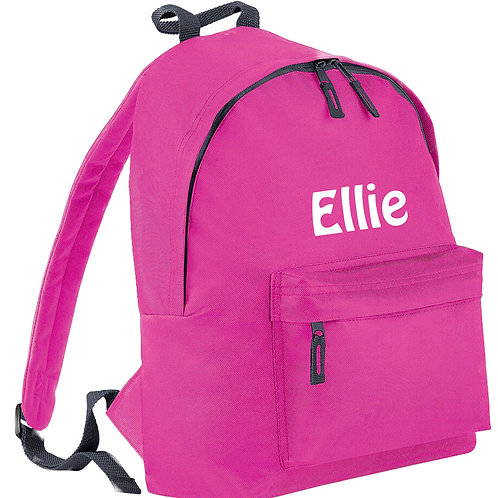 Junior Fashion Backpack / rucksack personalised with name