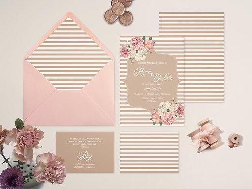 001 - Floral Stripes