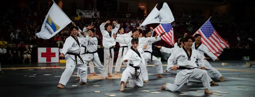 Kukkiwon demonstration team at the 2017 US Open Hanmadang