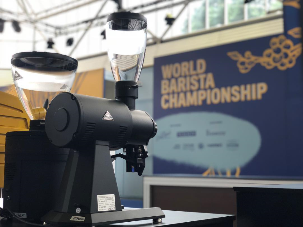 EK-43s on the World Barista Championship stage