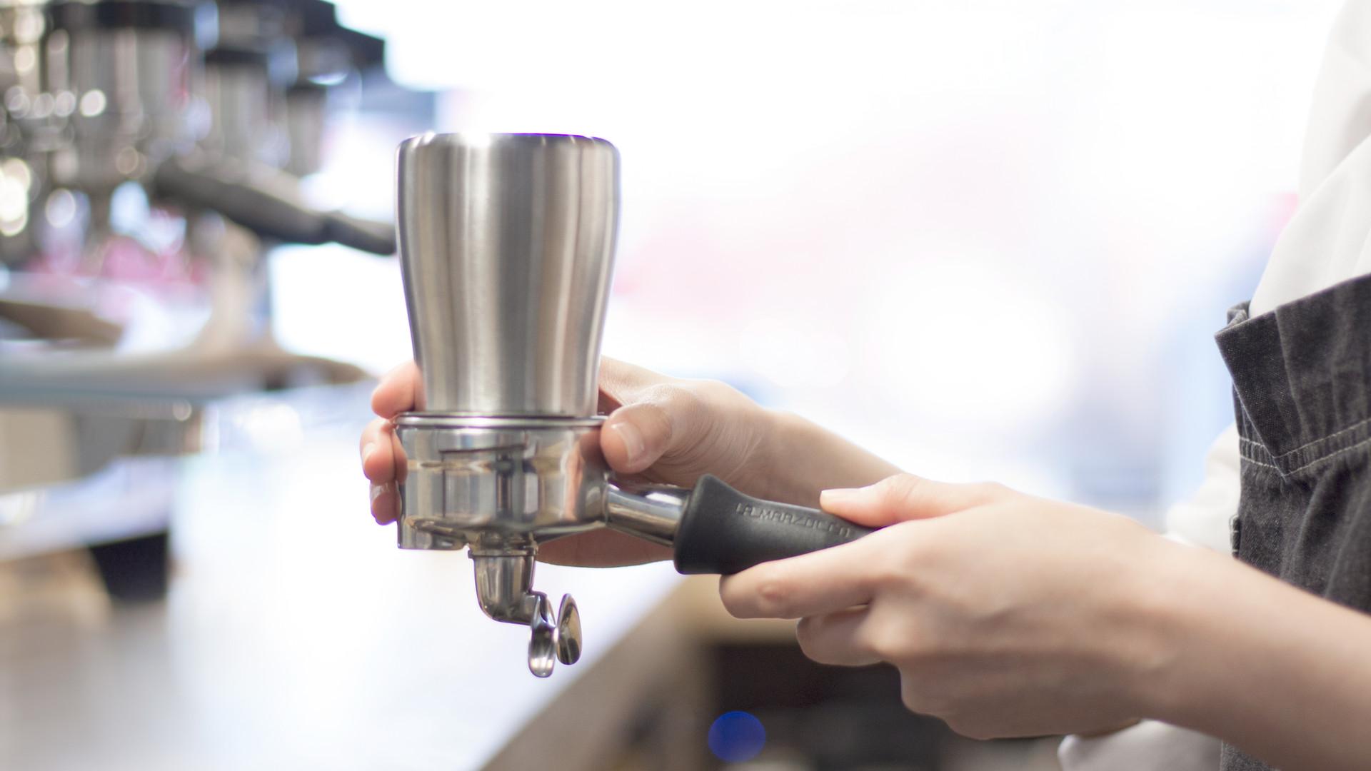 Dosing cup for EK-43