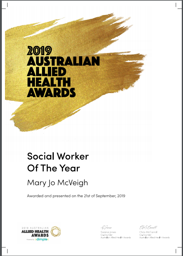 Social worker of the year