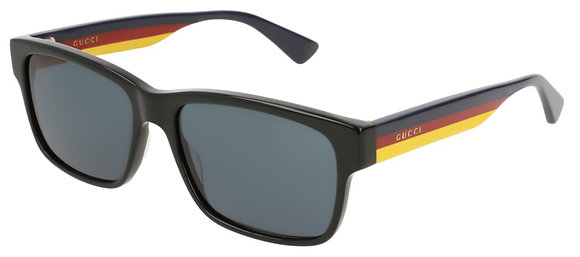 Gucci Men's Rectangle Sunglasses GG0340S