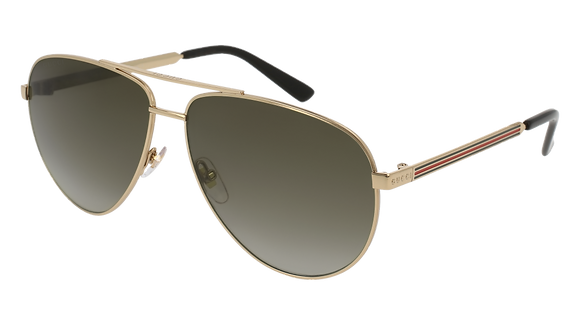 Gucci Men's Aviator Sunglasses GG0137S