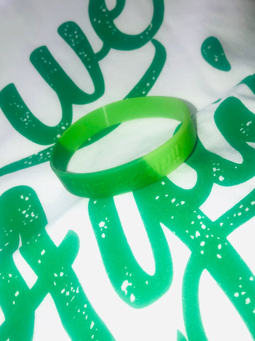 """Live Again"" Tri-Green Wristband"
