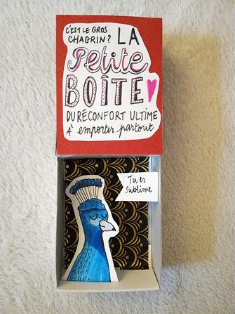 boite alumette paon craft