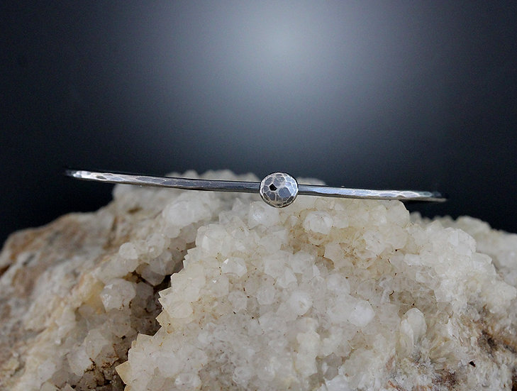 Sterling Silver bangle with ball