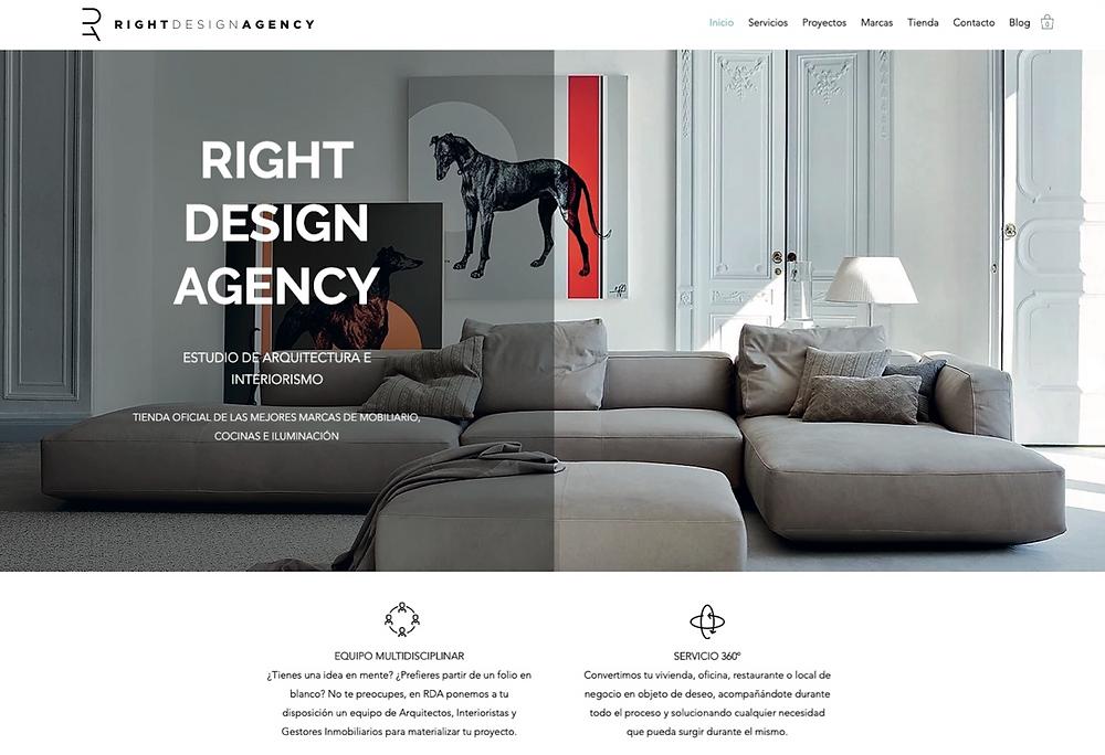 Diseño Web de Right Design Agency