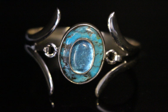 Turquoise and Topaz Bracelet