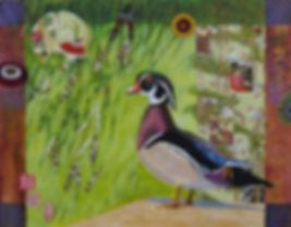 "Wood_Duck_under_Willow_11""x14""_acrylic-c"