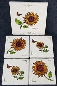 Sunflowers Trivet and Coasters.jpg