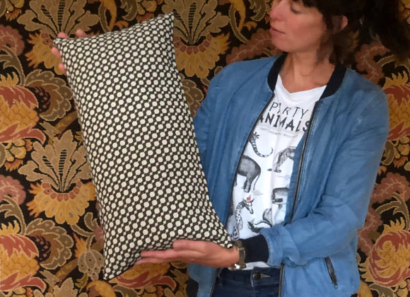 A ONE-OFF CUSHION USING THIS FUN FABRIC