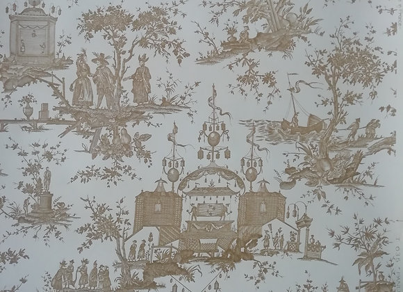 HAND PRINTED FRENCH ZUBER WALLPAPER