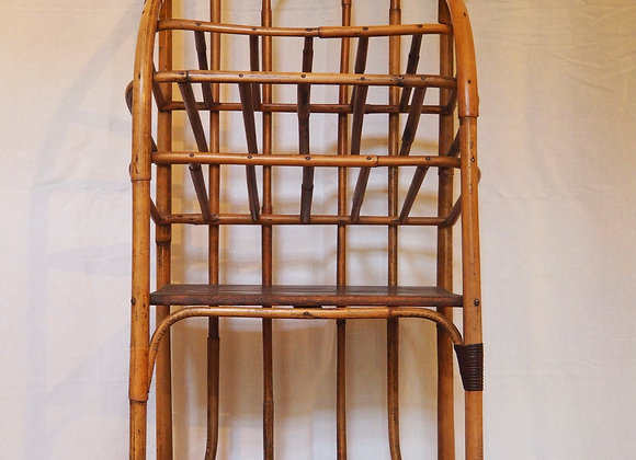 A VICTORIAN BAMBOO MAGAZINE/NEWSPAPAER SHELF