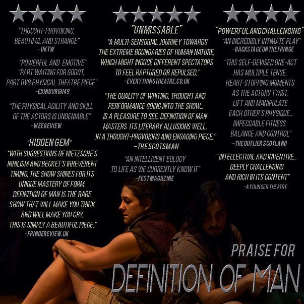 Reviews from Edinburgh Fringe for Definition of Man