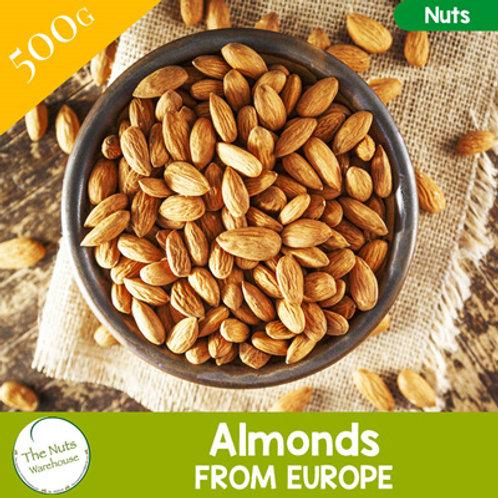 ORGANIC Natural Almonds - 500g
