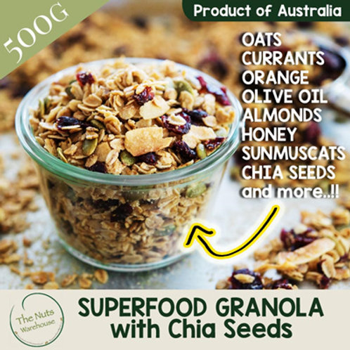SUPERFOOD Granola with Chia Seeds - 500g