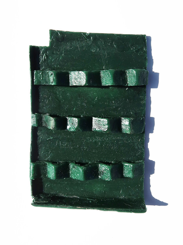 Pappe und Wachs, 2019, Gussvorlage, 11,5 x 17,5 x 2 cm