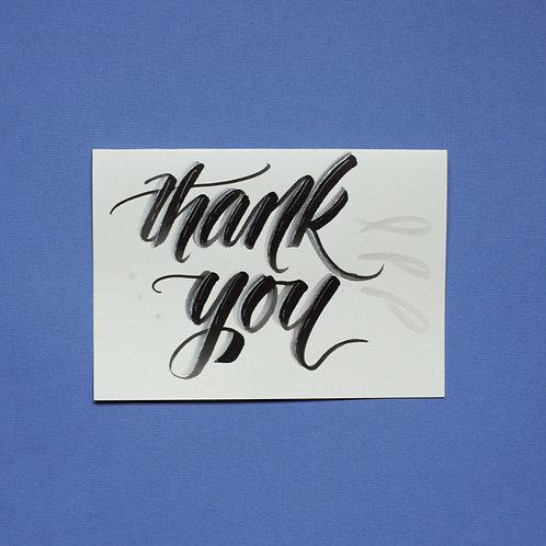 """thank you"" - Karte"