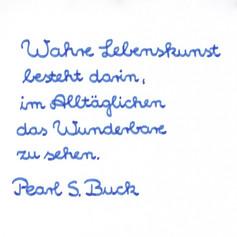 Pflückebeutel - Handschrift