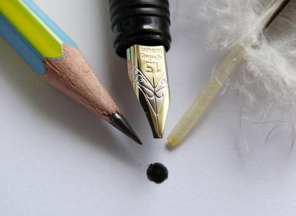 Eine Schreibfeder herzustellen ist kinderleicht.