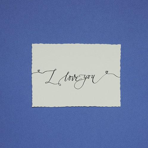 """""""I love you"""" - Karte"""