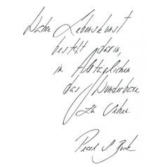 Nieves - Handschrift