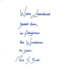 Schreibmädchen - Handschrift