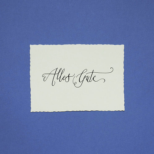 """Alles Gute"" - Karte"